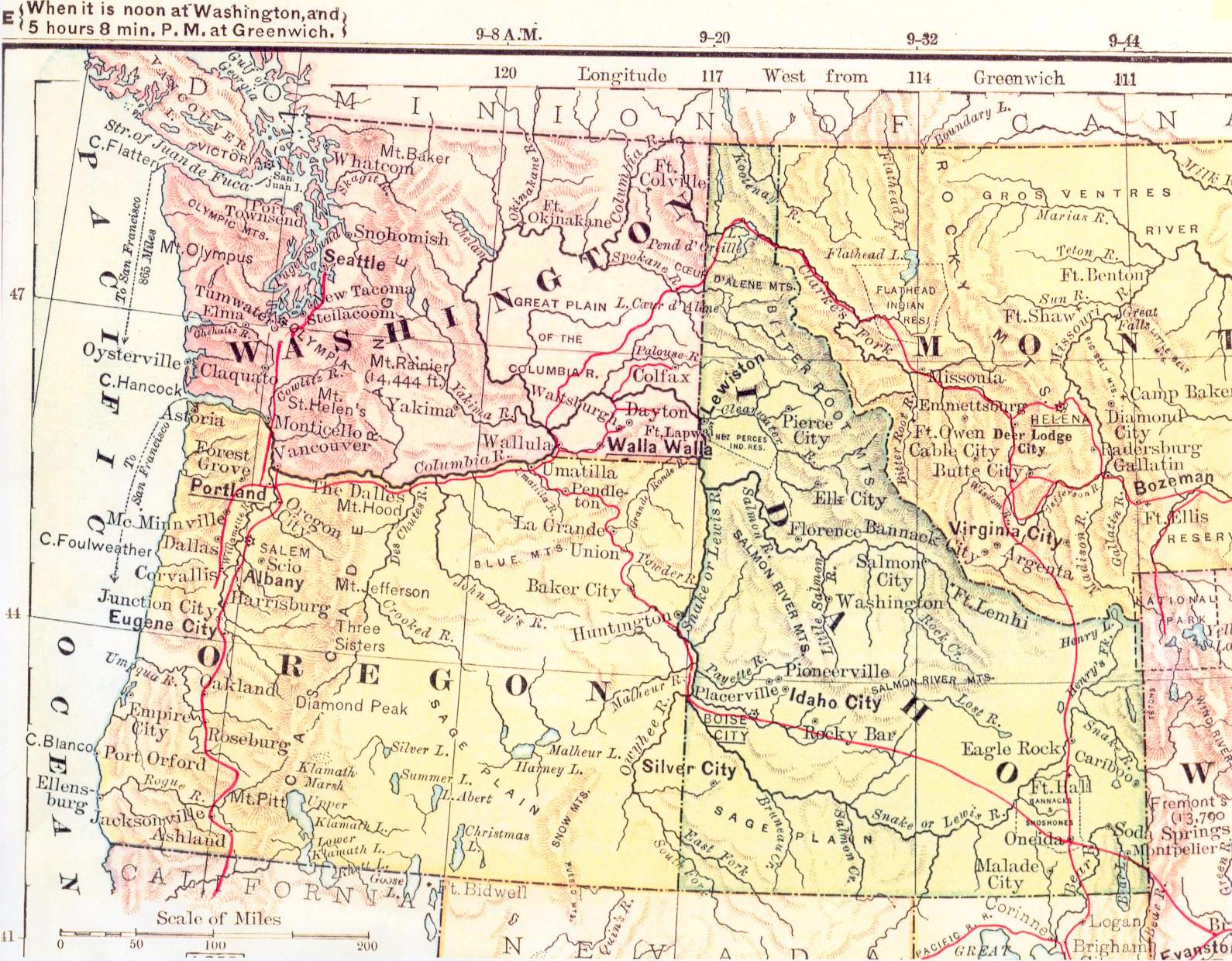 road map northwest us - 28 images - road maps of oregon, map of ...