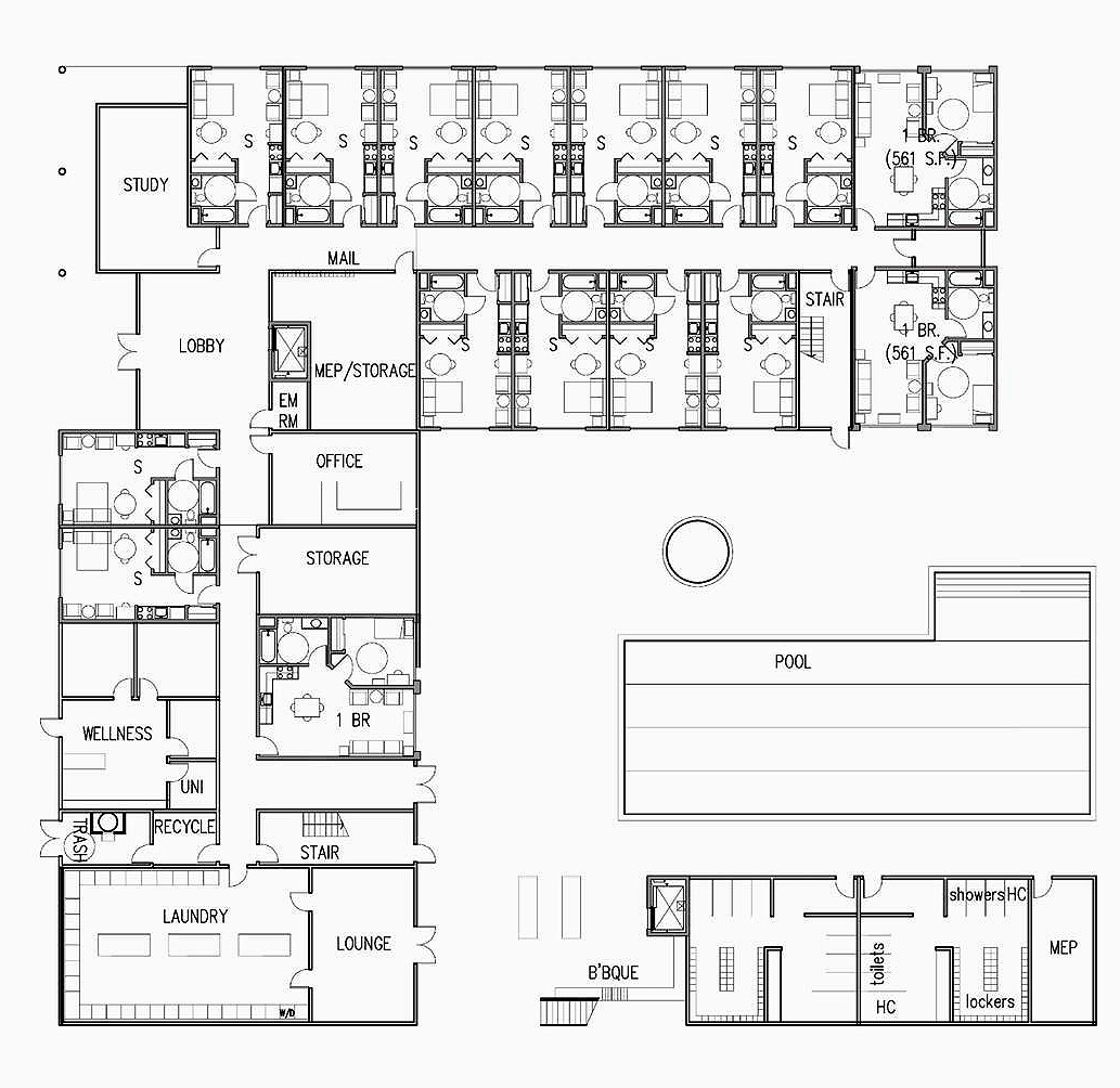 Water Conservation Technologies – Student Housing Floor Plans